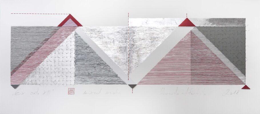 Ex voto XIII, mixed media 70x25 cm, 2018